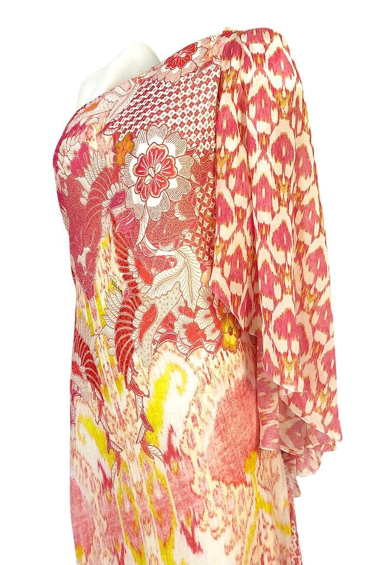 Recent Roberto Cavalli Printed Bias Cut Silk One Shoulder Dress For Sale 2