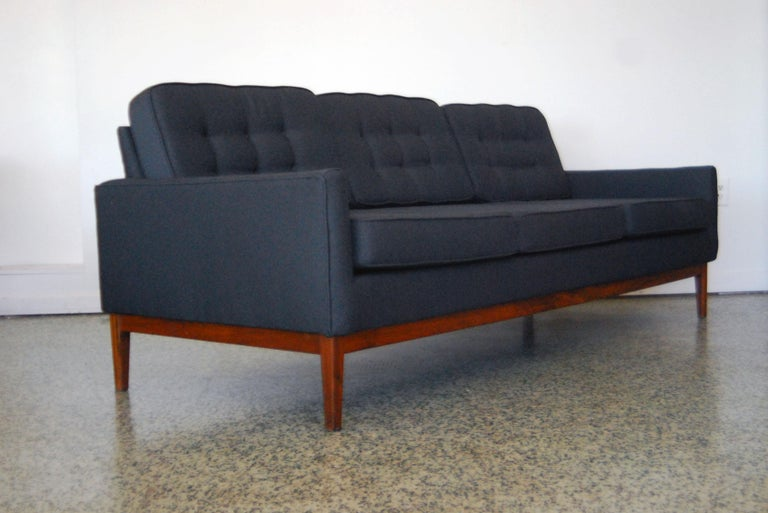 Designer: Florence Knoll Manufacture: Knoll Period/style: Mid-Century Modern Country: US Date: 1950s. Recently re-upholstered.