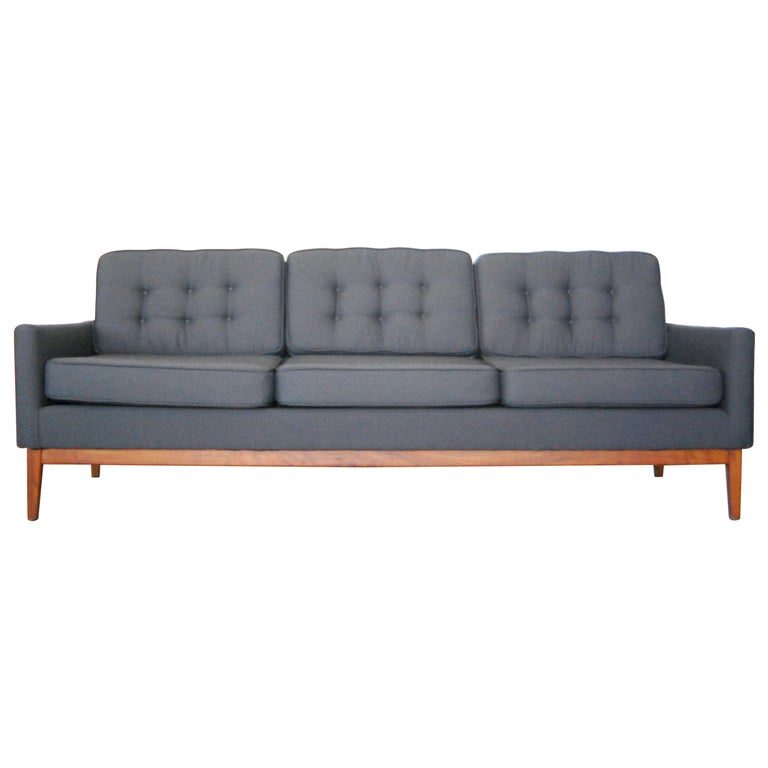 Recently Reupholstered Florence Knoll Sofa For Sale