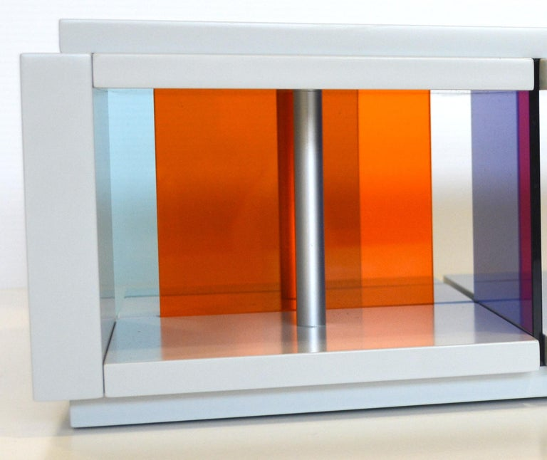 Contemporary Recessed Discussion Stream sculpture by Liam Gillick For Sale