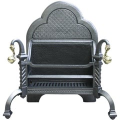 Reclaimed 19th Century Cast Iron Fire Basket