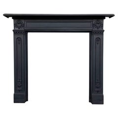 Reclaimed 19th Century Cast Iron Fireplace Surround