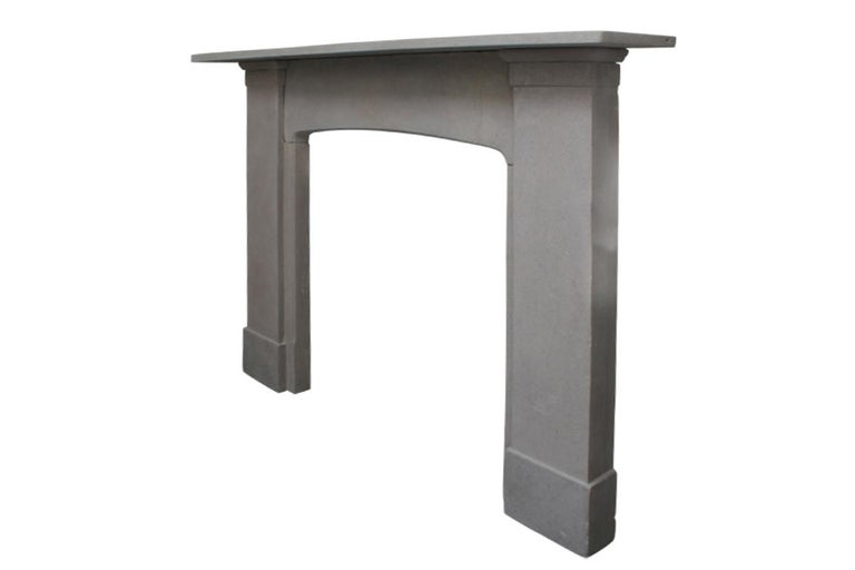 Victorian Reclaimed 19th Century Stone Fire Surround For Sale