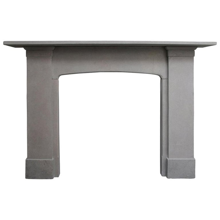 Reclaimed 19th Century Stone Fire Surround For Sale