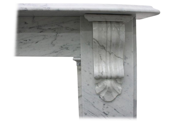 Reclaimed 19th Century Victorian Carrara Marble Fireplace Surround For Sale 1
