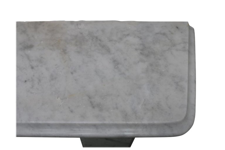 Reclaimed 19th Century Victorian Carrara Marble Fireplace Surround For Sale 2
