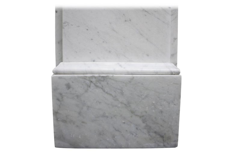 Reclaimed 19th Century Victorian Carrara Marble Fireplace Surround For Sale 3