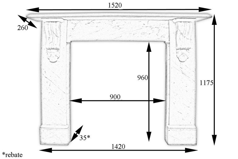 Reclaimed 19th Century Victorian Carrara Marble Fireplace Surround For Sale 4