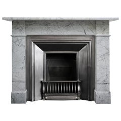 Reclaimed Antique 19th Century Carrara Marble Fireplace Surround