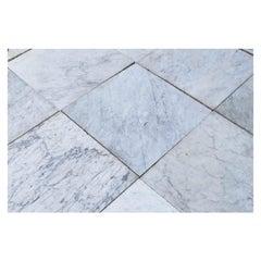 Reclaimed Antique Carrara Marble Floor Tiles 32.8 M2