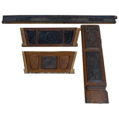 Reclaimed Antique Carved Wood Panels, 20th Century