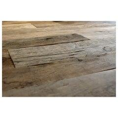 Reclaimed Antique European Oak Wooden Floor Boards, 19th Century