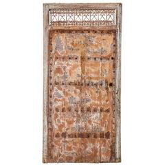 Reclaimed Antique Moroccan Door in Frame, 20th Century