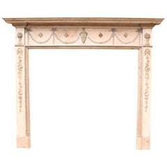 Reclaimed Antique Pine and Gesso Fire Surround