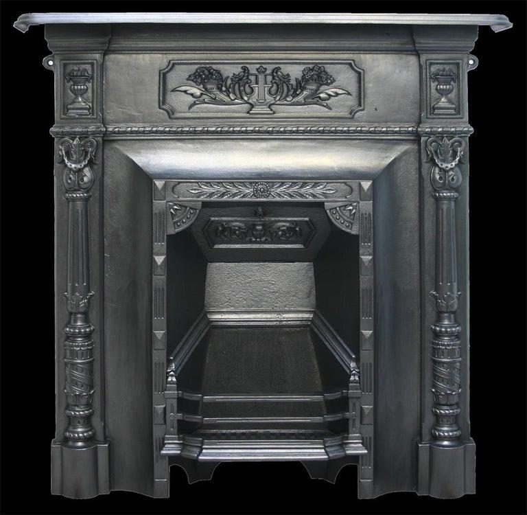 Antique Vintage Bedroom Fireplace: Reclaimed Antique Victorian Cast Iron Bedroom Fireplace