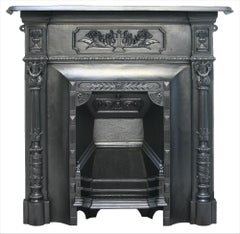 Reclaimed Antique Victorian Cast Iron Bedroom Fireplace