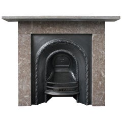 Reclaimed Antique Victorian Hopton Limestone Fireplace Surround