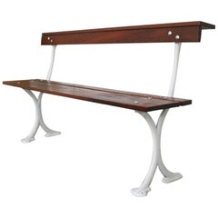 Reclaimed Bandstand Bench Produced by Walter Macfarlane & Co. Glasgow