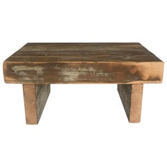 Reclaimed Beam Bench or Low Table