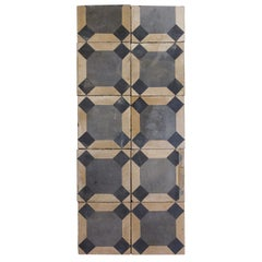Reclaimed Blue and Beige Octagonal Tiles