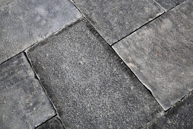 Reclaimed Bluestone Flooring In Good Condition For Sale In Made, NL