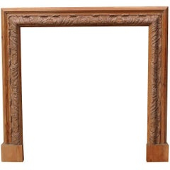 Reclaimed Carved Pine Bolection Fire Surround