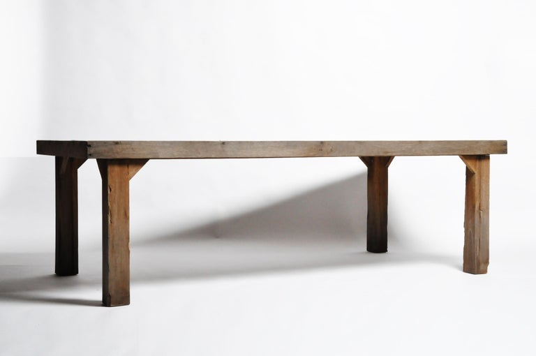 Reclaimed Champaca Wood Dining Table For Sale 7