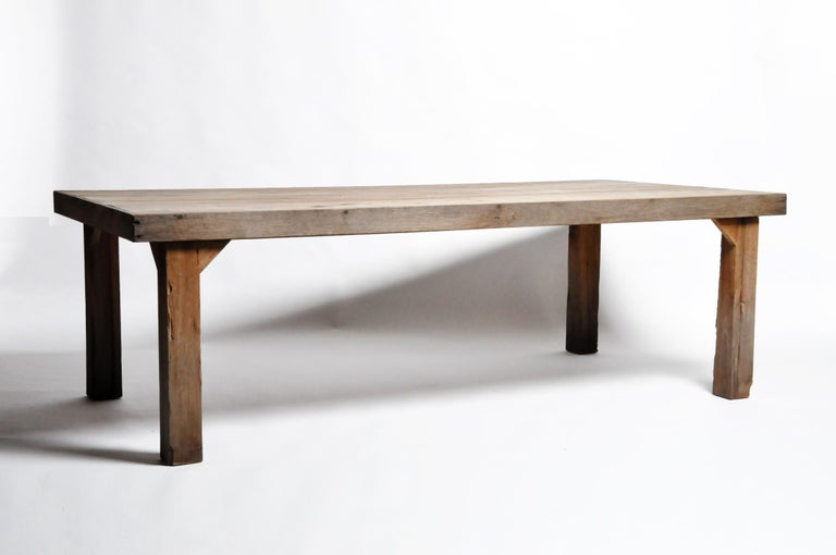 Reclaimed Champaca Wood Dining Table For Sale 8