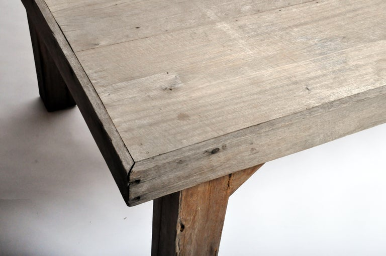 Reclaimed Champaca Wood Dining Table For Sale 11