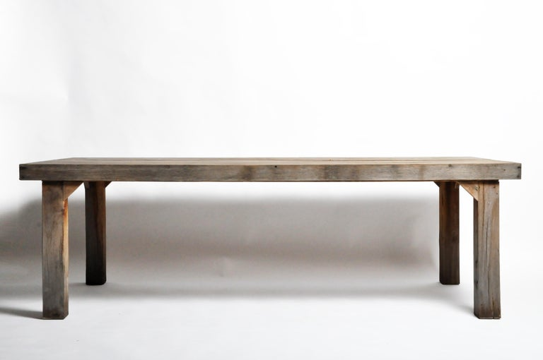 Reclaimed Champaca Wood Dining Table For Sale 15
