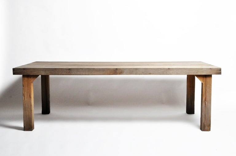 Reclaimed Champaca Wood Dining Table In Good Condition For Sale In Chicago, IL