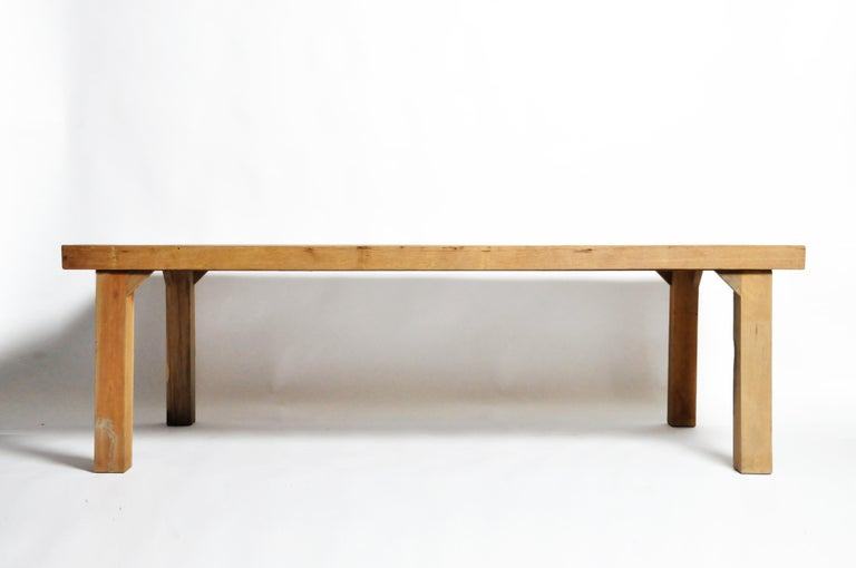 Contemporary Reclaimed Champaca Wood Dining Table For Sale