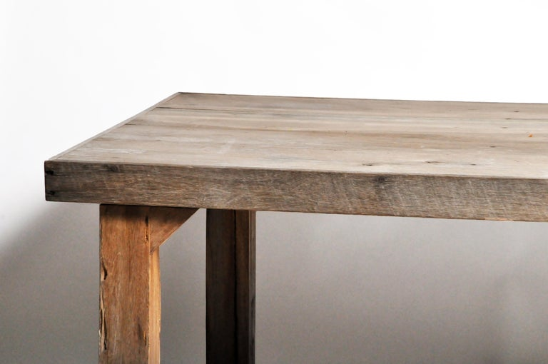 20th Century Reclaimed Champaca Wood Dining Table For Sale