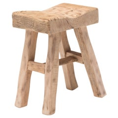 Reclaimed Chinese Elm Courtyard Stool