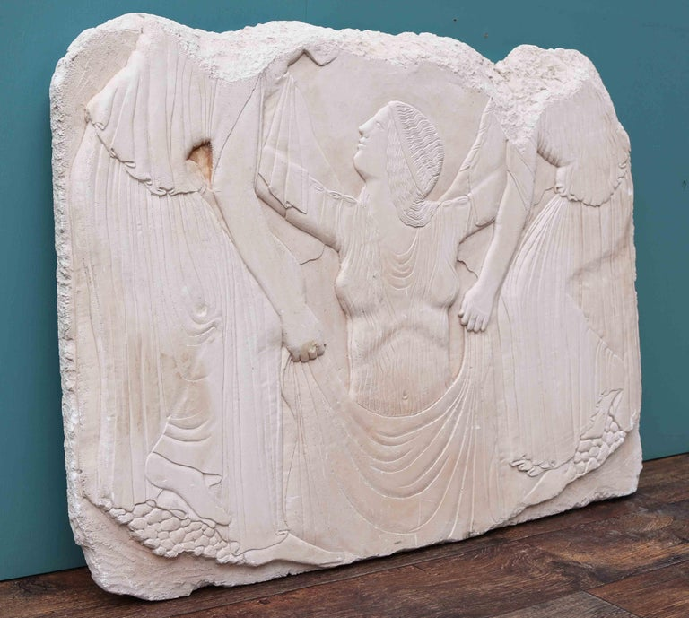 French Reclaimed Classical Plaster Wall Plaque For Sale