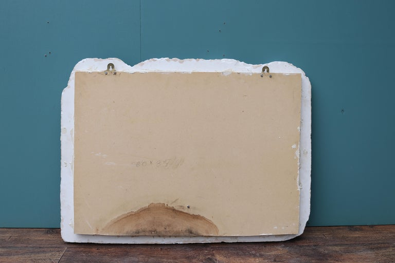 Reclaimed Classical Plaster Wall Plaque In Fair Condition For Sale In Wormelow, Herefordshire