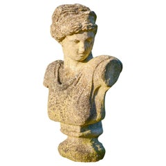 Reclaimed Composition Stone Classical Bust, 20th Century