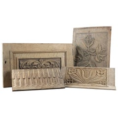 Reclaimed Decorative Carved Oak Panels, 20th Century