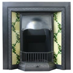 Reclaimed Edwardian cast iron and tiled fireplace insert