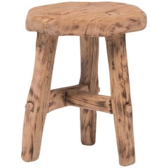 Reclaimed Elm Chinese Courtyard Stool