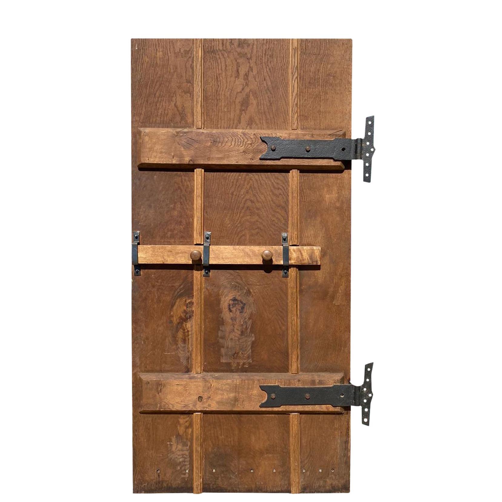 Reclaimed English Gothic Style Oak Exterior Door