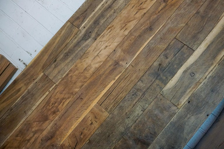 Our reclaimed wood flooring comes from France, circa 17th century. Priced at $36/square foot.