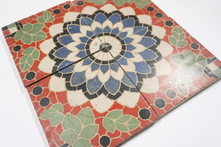 20th Century Reclaimed French Painted Flooring, circa 1900 For Sale