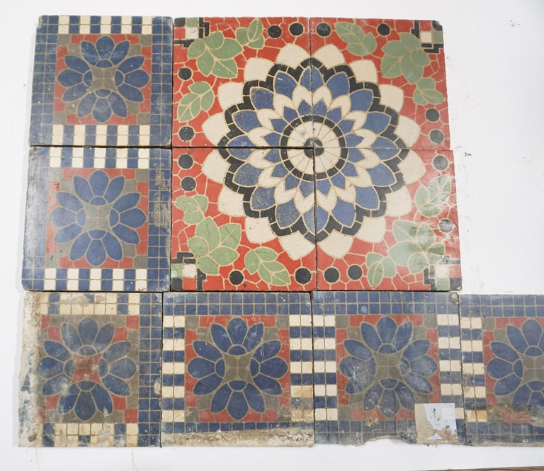 Reclaimed French Painted Flooring, circa 1900 For Sale 2
