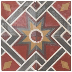 Reclaimed Geometric Floor Tiles