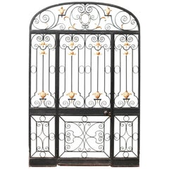 Reclaimed Glazed Wrought Iron Entrance-Way