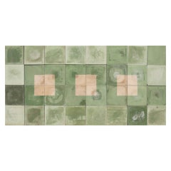 Reclaimed Green and Cream Floor or Wall Tiles