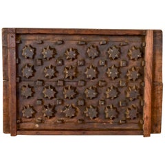 Reclaimed Hardwood Grill Mould, 20th Century