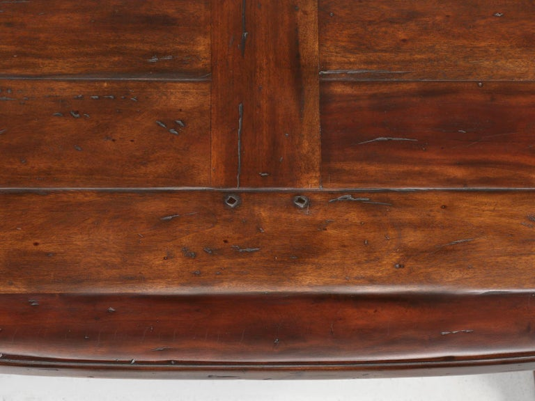 Reclaimed Hardwood Oval Dining Table For Sale 1