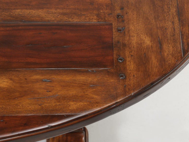 Reclaimed Hardwood Oval Dining Table For Sale 2